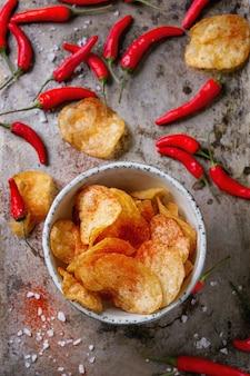 Chips de pommes de terre aux piments