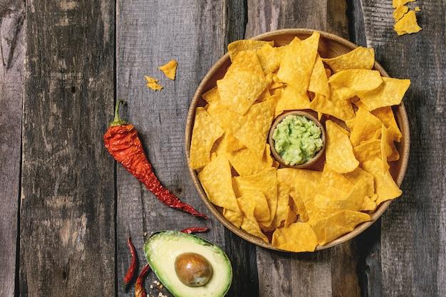 Chips de tortilla nachos