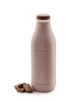 Chocolat au lait avec barre de chocolat