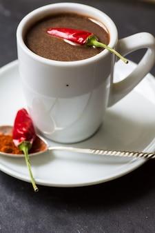 Chocolat chaud au poivre