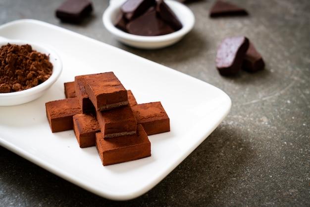Chocolat frais et moelleux