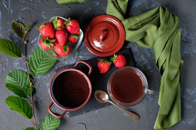Chocolat et fraises