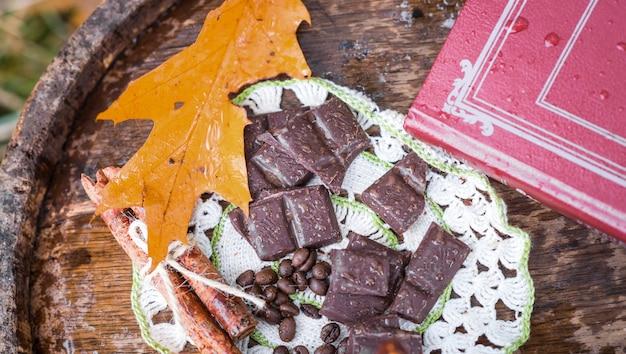 Chocolat sur fût de bois
