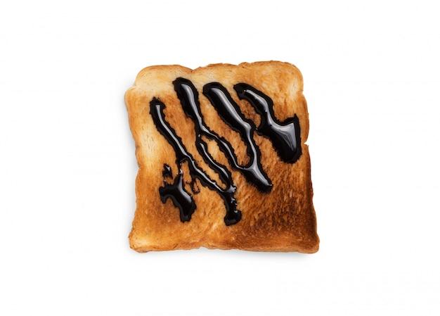 Chocolat noir sur pain grillé
