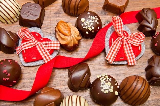 Chocolats fins pour la saint valentin