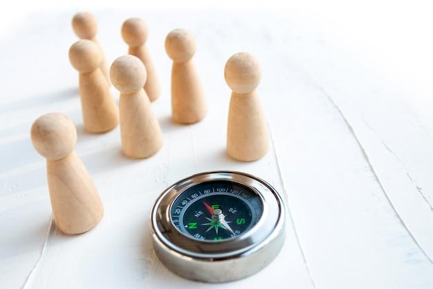 Choisir la bonne direction en affaires est la bonne sélection d'employés.
