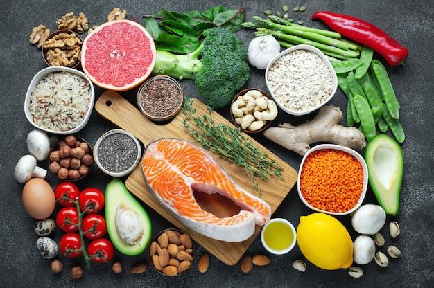 Choix de nourriture saine alimentation saine.