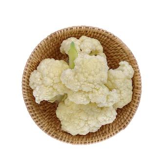 Chou-fleur isolé sur fond blanc