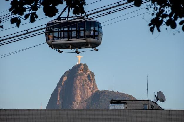 Le christ rédempteur et le téléphérique du pain de sucre à rio de janeiro