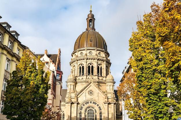 La christuskirche, une église protestante de mayence, rhénanie-palatinat, allemagne