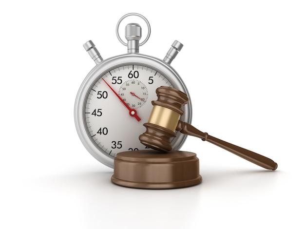 Chronomètre 3d avec legal gavel