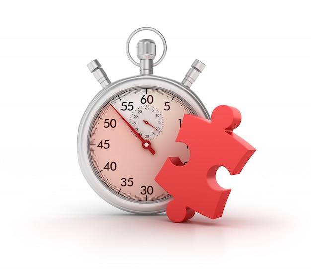 Chronomètre 3d avec pièce de puzzle