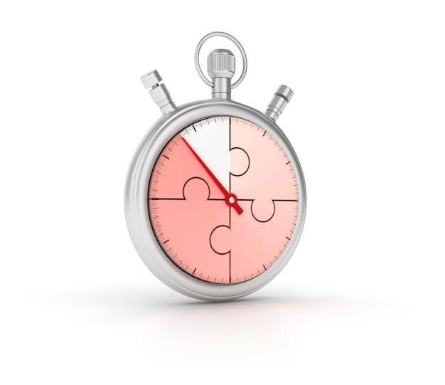 Chronomètre 3d avec puzzle