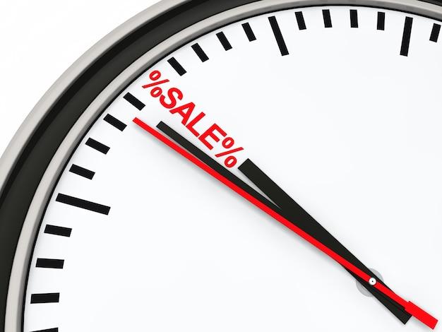 Chronomètre pointage au mot «vente»