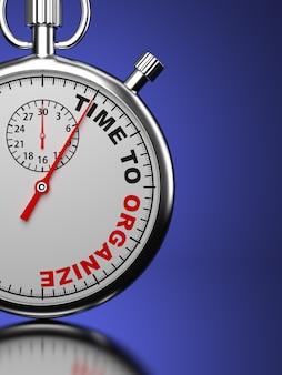 Chronomètre avec le slogan