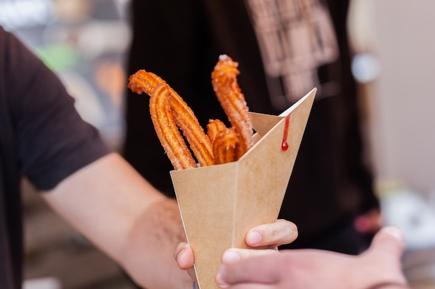 Churros traditionnel espagne rue fast food