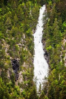 Chute d'eau dans les forêts de montagne