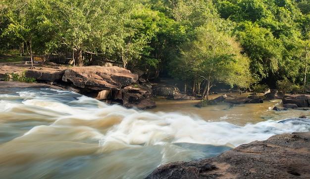 Chute d'eau paysage tad ton en thaïlande