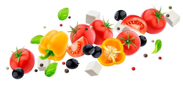 Chute de salade grecque