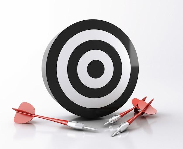 Cible 3d avec des flèches. concept de réussite