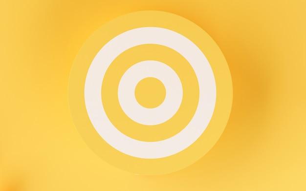 Cible 3d sur fond jaune.