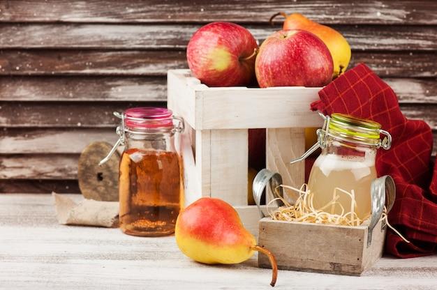 Cidre et fruits maison