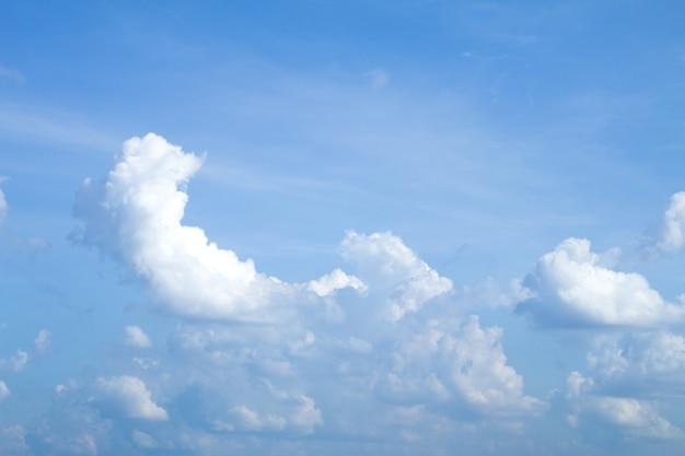 Ciel bleu avec fond de nuages a un espace pour le texte ou le produit