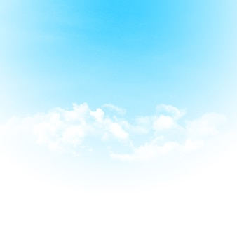 Ciel bleu et nuages abstract background illustration with copy space