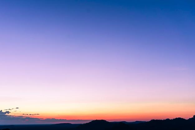 Ciel clair au coucher du soleil