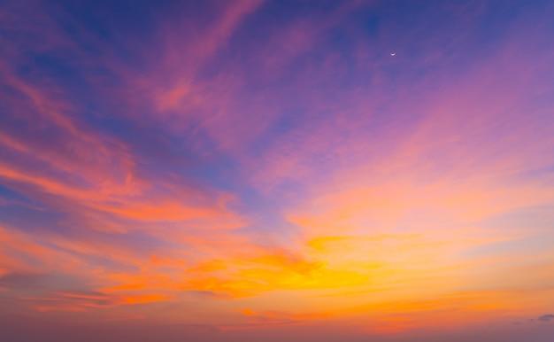 Ciel coucher de soleil magnifique crépuscule