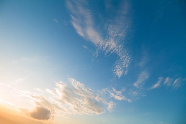 Ciel crépusculaire que les nuages semblent être un faucon
