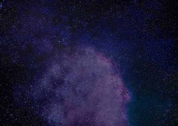 Ciel étoilé dans l'espace, galaxie de planètes