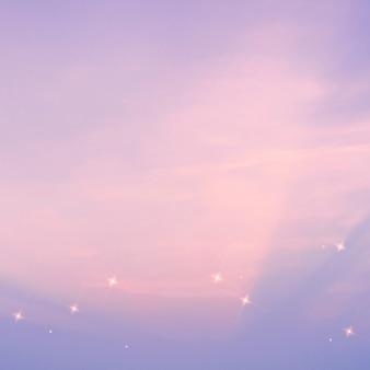 Ciel étoilé motif sparkle fond violet