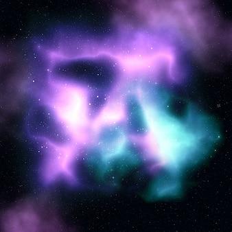 Ciel de nébuleuse avec des étoiles