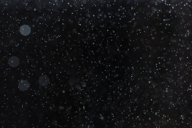 Ciel nocturne défocalisé plein d'étoiles