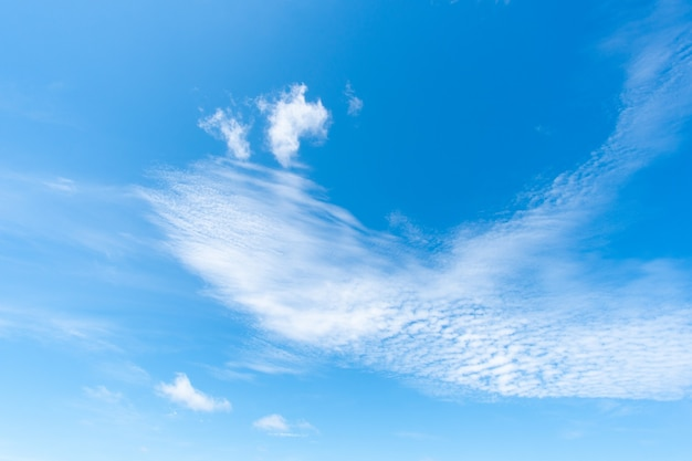 Ciel nuage fond clair
