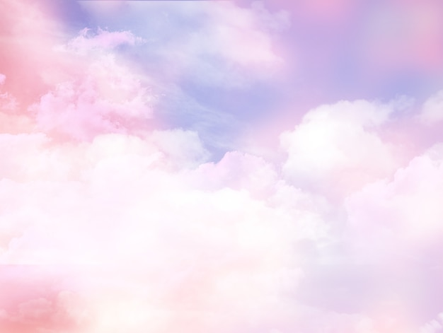 Ciel nuageux rose