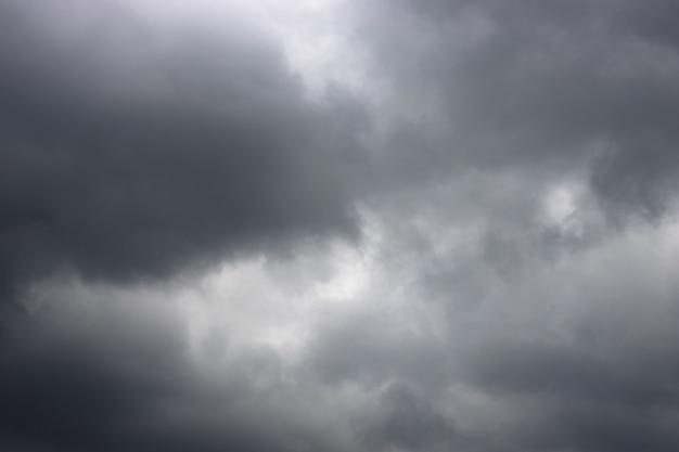 Ciel nuageux sombre dramatique avant la tempête