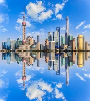 Ciel oriental matin voyage en ville