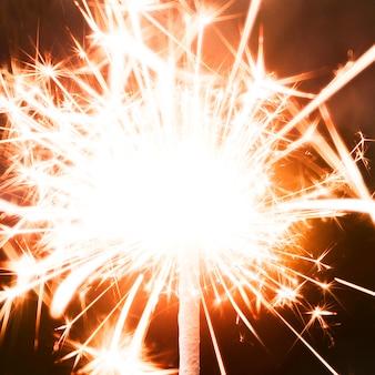 Cierge magique festif du nouvel an orange