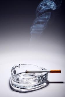 Cigarette dans le cendrier