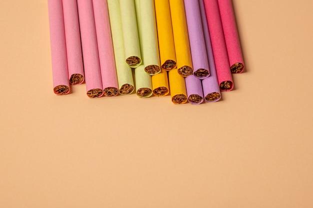 Cigarettes colorées