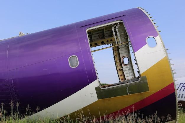 Cimetière d'avion en thaïlande