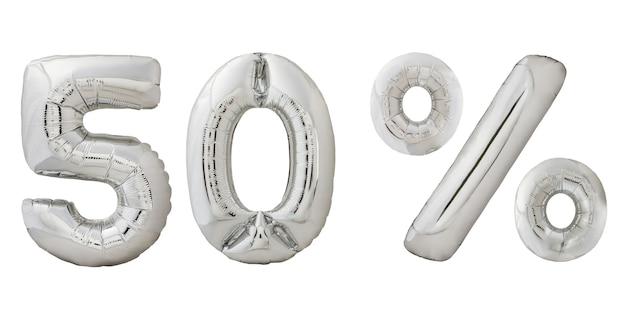 Cinquante pour cent de réduction ballons chromés