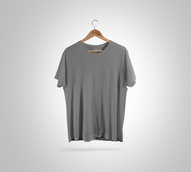 Cintre avant de t-shirt gris blanc,
