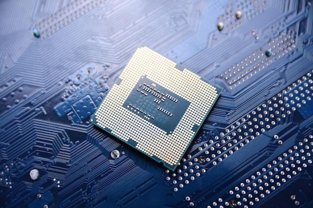 Circuit imprimé. contexte technologique. concept de processeur de processeurs d'ordinateur central.une puce numérique de carte mère.ai.gros plan