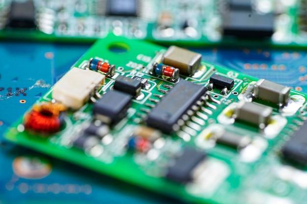 Circuit informatique processeur électronique de la puce de la carte mère.