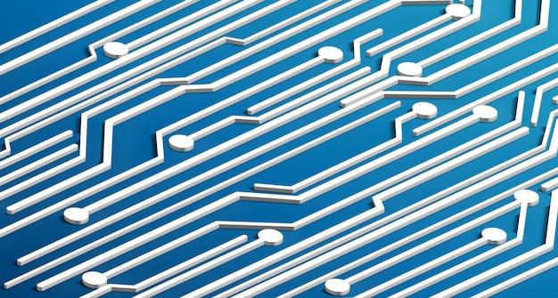 Circuit isométrique 3d