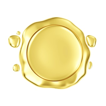 Cire d'or vierge sur blanc