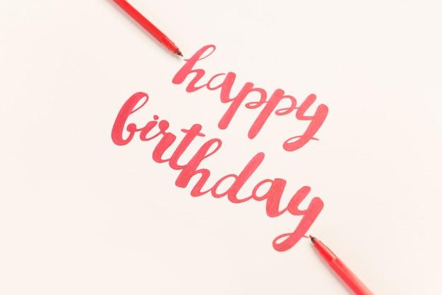 Citation inspirante «joyeux anniversaire» pour les cartes de voeux et les affiches.